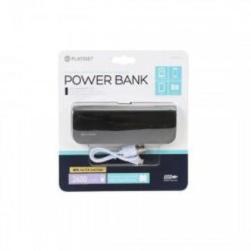 Power Bank, 2600mAh, 1 X 1A εξοδος, μαυρο δερματινο, Platinet