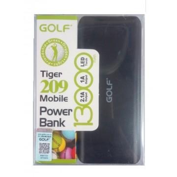 Power Bank, 13000mAh, 1 X 1A και 1 Χ 2,1Α εξοδος, μαυρο, Golf