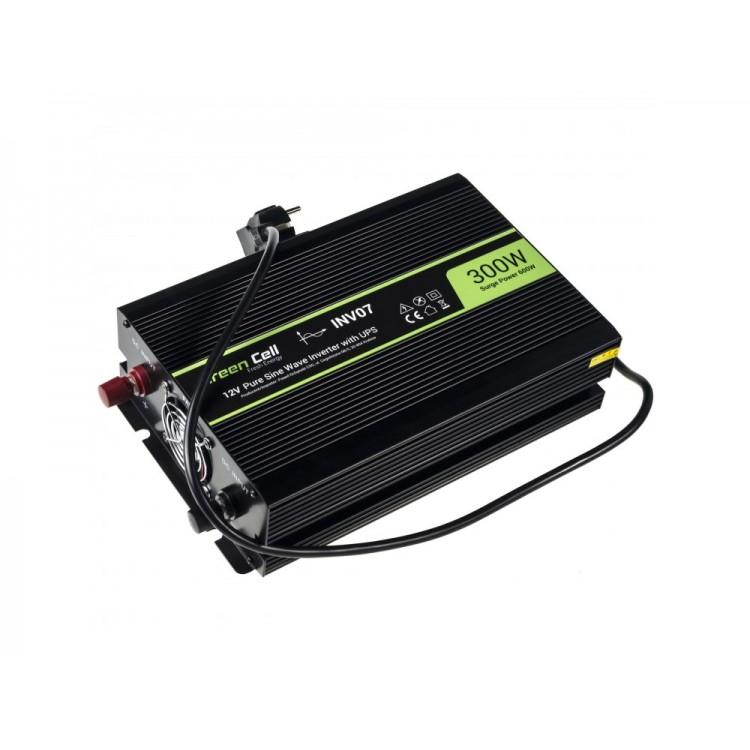 Μετατροπέας τάσης Inverter AC/DC-AC  220V AC/12V DC - 220V AC 300W/600W Καθαρής ημιτονικής εξόδου για Αντλίες κεντρικής θέρμανσης
