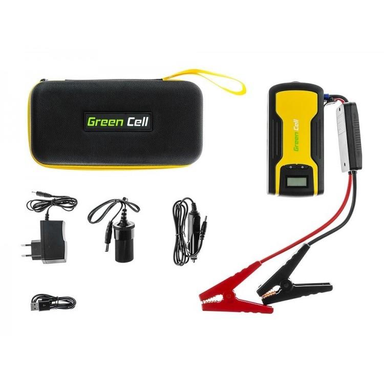Car Jump Starter-Power Bank 11100mAh, 200A, Green Cell