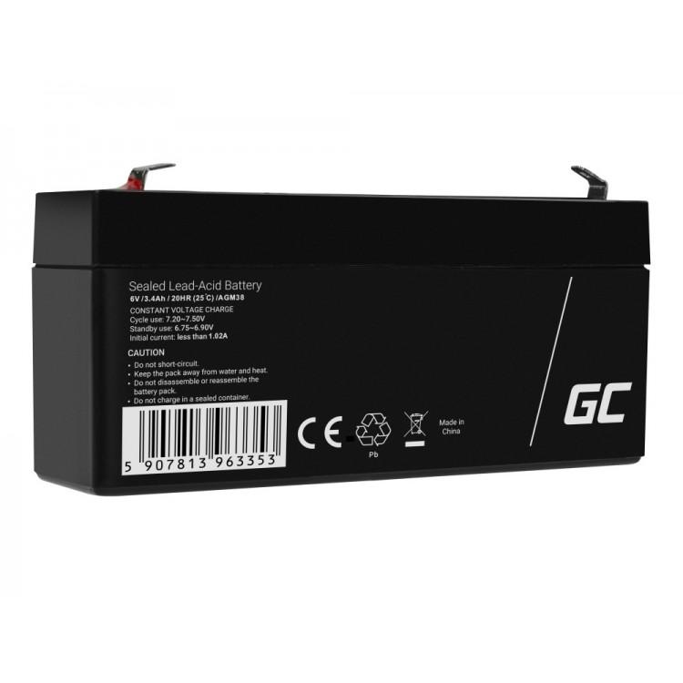 Μπαταρία μολύβδου AGM VRLA 6V 3,4Ah