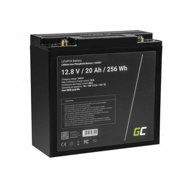 Μπαταρία LiFePO4 battery 20Ah 12.8V 256Wh φωσφορικού σιδήρου λιθίου Green Cell