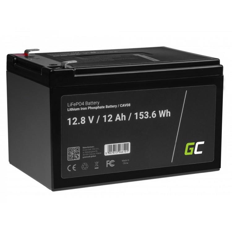 Μπαταρία LiFePO4 battery 12Ah 12.8V 153,6Wh φωσφορικού σιδήρου λιθίου Green Cell