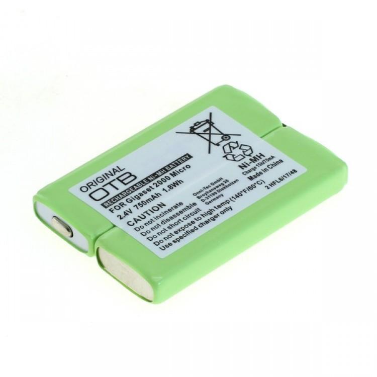 Μπαταρία ασύρματου τηλεφώνου NiMh, 2.4V, 750mAh, για Siemens Gigaset 2000 pocket