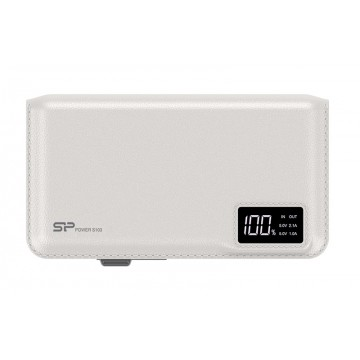 Power Bank S103 10000mAh, White SILICON