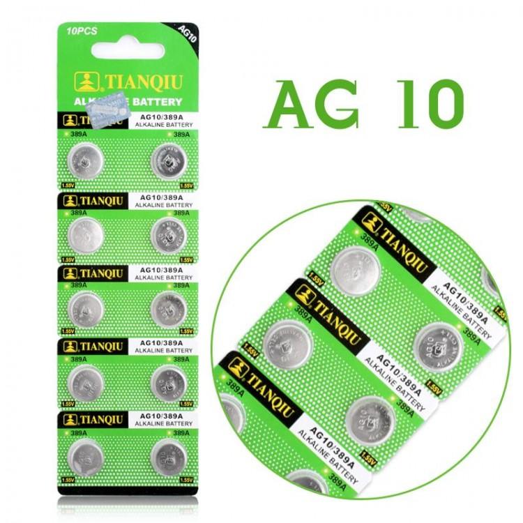 Μπαταρία αλκαλική AG10, LR54, 189, LR1130, 389, 390, 1.5V