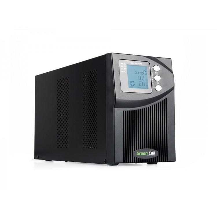 Green Cell UPS Online MPII 1000VA LCD