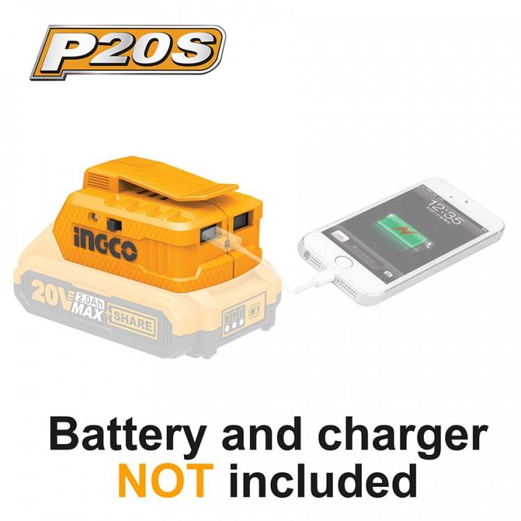 Ασύρματος Φορτιστής USB-A Li-Ion Powerbank SOLO CUCLI2001 INGCO