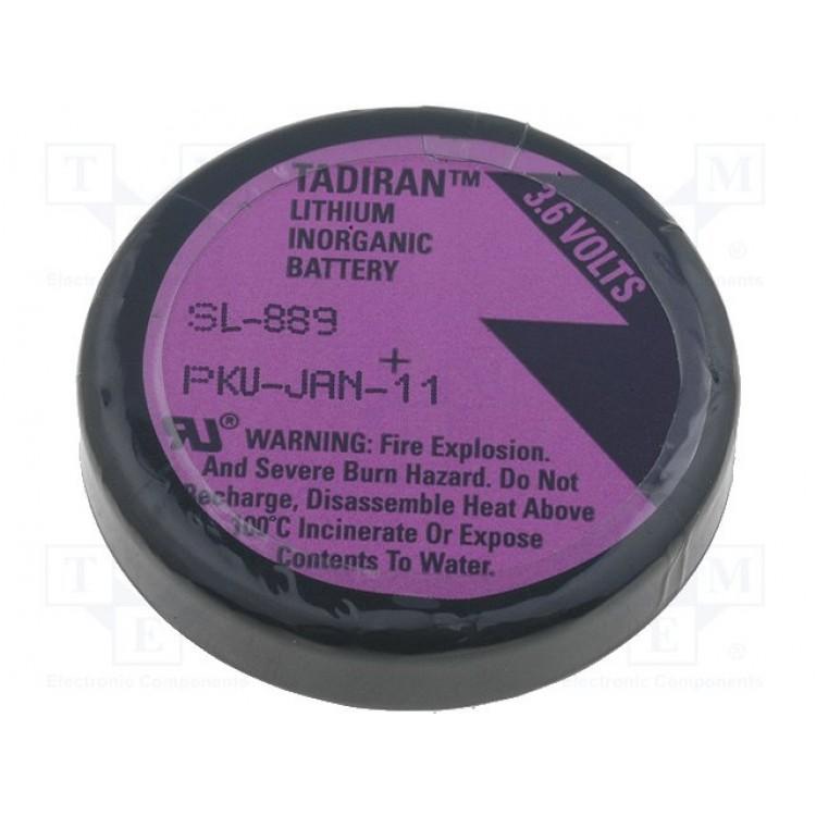 Λιθίου, 1/10D, 3.6V, SL-889/P, TERMINAL, 3 pin, for PCB, XENO-ENERGY